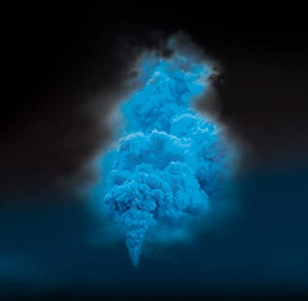 fumigène bleu