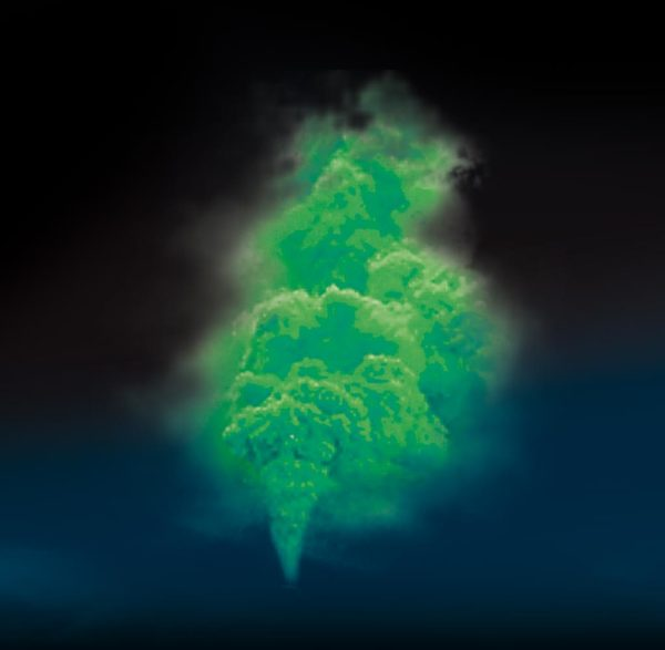 fumigène vert